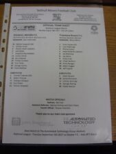 28/08/2017 Teamsheet: Solihull Moors v Tranmere Rovers. If this item has any fau