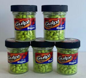 Berkley Gulp Maggots -.90oz jar -  Choose Color
