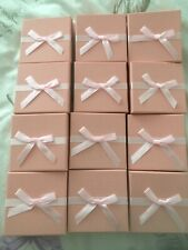 19 JEWELLERY GIFT BOXES FOR NECKLACES BRACELET CHAIN - PINK BULK