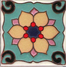Tile Decorative Ceramic Art ~ Dragon Flower B 4x4