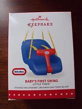 Hallmark 2015 Christmas Tree Ornament ~ Baby's First Swing Little Tikes NIB 1st