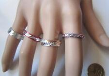 Lote 4 anillos aluminio colores nº 8 ó 17 mm diámetro medio bisutería r-25