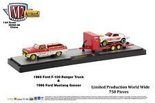 M2 Machines Auto Hauler 38 1969 Ford F-100 Ranger Truck 1966 Ford Mustang CHASE