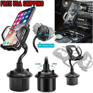 Universal Adjustable Car Gooseneck Cup-Holder Cradle Mount For iPhoneCell Phone