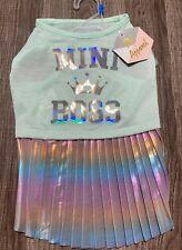 """Simply Pet Apparel Dog Dress """" MINI BOSS """" MEDIUM"""