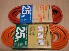 (2) Woods Outdoor Power Extension Cords 14 & 16 Gauge 25 Ft
