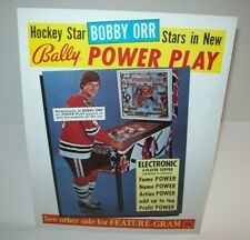 Bobby Orr Power Play Pinball FLYER 1978 Original Bally Hockey Artwork Sheet