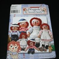 New Raggedy Ann & Andy Doll Sewing Pattern Boys & Girls Clothes -C #