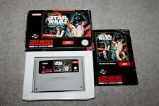 Super Nintendo-Super Star Wars-Snes-Completo En Caja + MANUAL-PAL