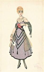 Early   ART DECO   Glamour Italian Lady  WILLY illustrator Postcard