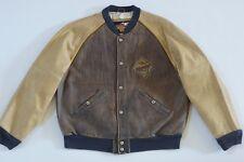 Harley Davidson Men's Distressed National Champion Varsity Leather Jacket L