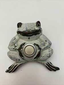 Vintage Brass Metal Bullfrog Frog Door Bell Doorbell Push Button