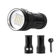 Diving Light Underwater 15 XML2 6 Red 6 UV LED Photography Flashlight Lamp AU