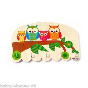Hess 30352 Key Or Jewellery Board Owl Wood New! #