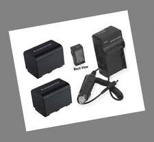 2 Batteries + Charger for Sony DCR-SR36 DCR-SR40 DCR-SR42 DCR-SR45 DCR-SR46