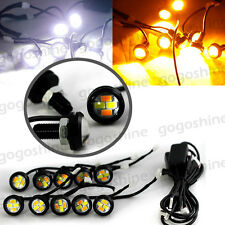 10x LED White Amber Eagle Eye Lights Driving Switchback Signal with Control Box