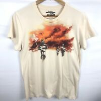 "Threadless T Shirt Men's  Womens XXL Tan ""Art No War"". B"