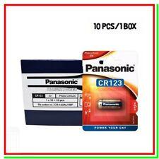 10 Batterie Pile Litio PANASONIC CR 123 CR17345 Softair Allarmi Sensori Video