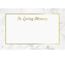 """50ct. """"IN LOVING MEMORY"""" Gold Sympathy Blank Florist Enclosure Cards Small Tags"""