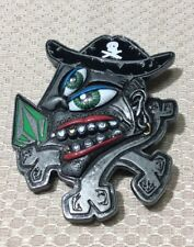 HTF Volcom, Inc. Metal Green Eyed Pirate with Crossbones Belt Buckle Accessory