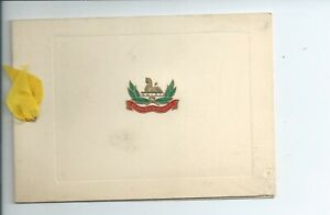 A Christmas greetings card from the Gloucestershire regiment in god condition