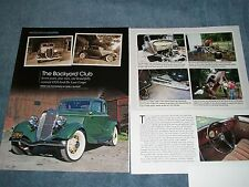 "1934 Ford 5-Window De Luxe Coupe Restoration Article ""The Backyard Club"""