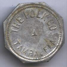 "THE POLK CO. TAMPA, FLA * ""S"" * ALUMINUM OCTAGONAL 28mm * TC-97661"