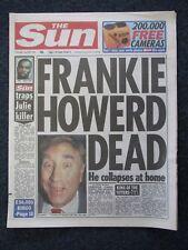 The Sun  ' Frankie Howard Dead '  - 20th Apr 1992 - Original Newspaper