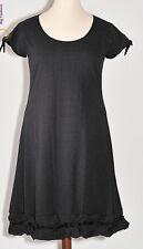 BORIS süsses Kleid Knotensaum Lagenlook Baumwolle schwarz Pünktchen 48 (5)