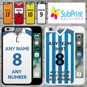 Personalised Championship Football Shirt Style Mobile Phone Case - IPhone Models