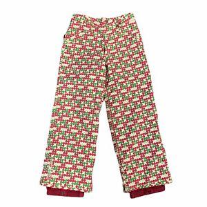 Burton Wrangler Pants Snowboarding Ski Insulated Pants Girls Size L Retro Adjust