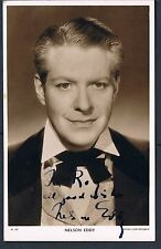 SIGNED PICTUREGOER SERIES POSTCARD NELSON EDDY