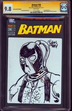 BATMAN #58 CGC SS 9.8 Sketch BANE by GLENN FABRY Rare German BLANK Variant  NM
