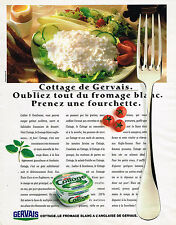 PUBLICITE ADVERTISING 114  1989  GERVAIS   fromage blanc COTTAGE