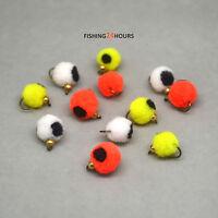 12Pcs / 1 Dozen Fly Fishing Bead Head Glo Egg Mixed White Yellow Orange NEW