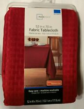 Mainstay 52 in x 70 in rectangle 100% Polyester Fabric Tablecloth -  Red Sedona
