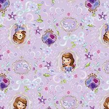 Disney tissu-sofia le 1st et ses amis-encadrée-violet - 100% coton