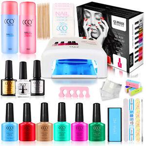 CCO UV Nail Gel 36W Lamp Official Gift Set Kit Gel Starter Kit Present Gift Box