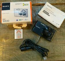 Sony Cyber-shot DSC-W830 20.1MP 8X zoom Digital Camera 720p- Black