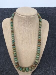 Jay King DTR mine Sterling Silver 925 Graduated Turquoise  beads necklace