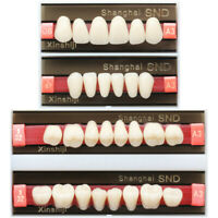 Dental A3 Shade Full Mouth Two-Layer Synthetic Resin Teeth Whitening Denture