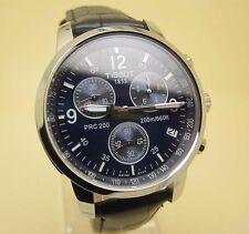 Tissot Prc 200 Chronograph Sports Blue Dial Leather Men's Swiss Watch