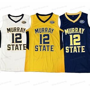Ja Morant #12 Murray State College Basketball Jersey Stitched 3 Colors