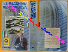 VHS film LA MACCHINA MERAVIGLIOSA 6 sigillata LE OSSA piero angela (F134) no dvd