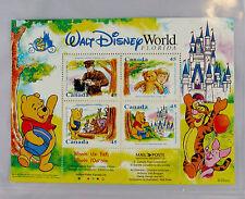 Walt Disney World 25th Anniversary Canada Stamp sheet Winnie the Pooh + COA