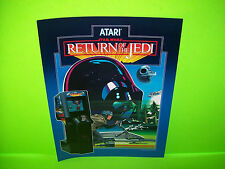 Atari STAR WARS RETURN OF THE JEDI Original 1984 NOS Video Arcade Game Flyer