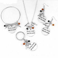 Hamilton Broadway Musical Pendant Necklace Keychain Earring Bracelet Jewelry Set