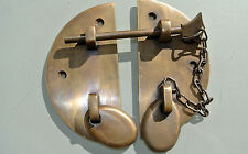 """Door box Latch catch brass furniture antiques bolt chain old asian style 3.1/2"""""""