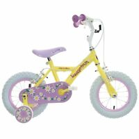 "Apollo Daisychain Kids Girls Bike Bicycle Yellow Steel Frame 12"" Inch Wheels"