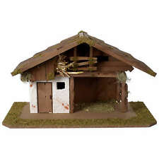 Nativity shed nordic style for 10-12 cm nativity scene